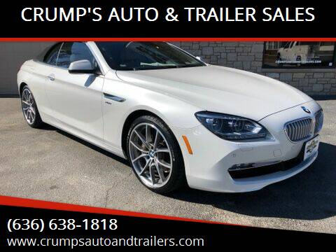 2012 BMW 6 Series for sale at CRUMP'S AUTO & TRAILER SALES in Crystal City MO