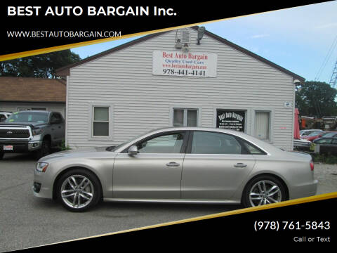 2017 Audi A8 L for sale at BEST AUTO BARGAIN inc. in Lowell MA