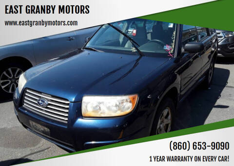 2006 Subaru Forester for sale at EAST GRANBY MOTORS in East Granby CT