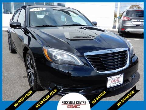 2013 Chrysler 200 for sale at Rockville Centre GMC in Rockville Centre NY
