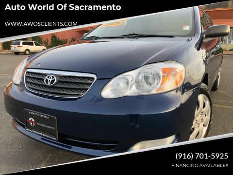 2005 Toyota Corolla for sale at Auto World of Sacramento Stockton Blvd in Sacramento CA