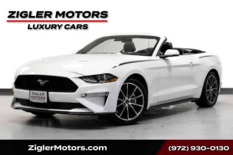 2019 Ford Mustang for sale at Zigler Motors in Addison TX