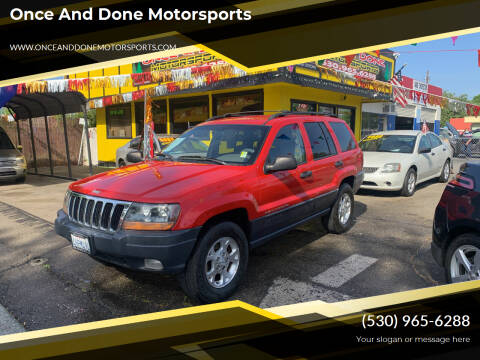 2000 Jeep Grand Cherokee for sale at Once and Done Motorsports in Chico CA