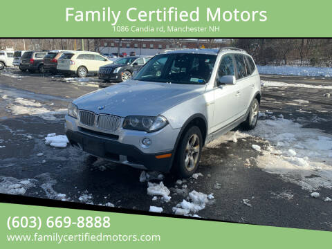 2008 BMW X3 for sale at Family Certified Motors in Manchester NH