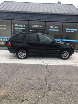 2004 BMW X5 for sale at Georgia Certified Motors in Stockbridge GA