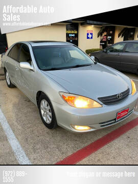 2003 Toyota Camry for sale at Affordable Auto Sales in Dallas TX