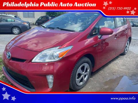 2013 Toyota Prius for sale at Philadelphia Public Auto Auction in Philadelphia PA