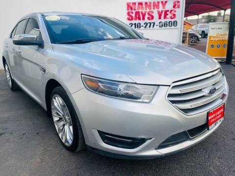 2017 Ford Taurus for sale at Manny G Motors in San Antonio TX