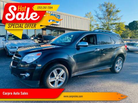2015 Chevrolet Equinox for sale at Carpro Auto Sales in Chesapeake VA