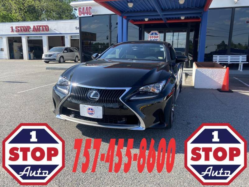 2018 Lexus RC 300 for sale at 1 Stop Auto in Norfolk VA