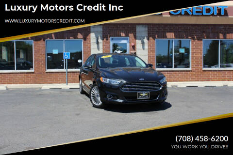 2015 Ford Fusion for sale at Luxury Motors Credit Inc in Bridgeview IL
