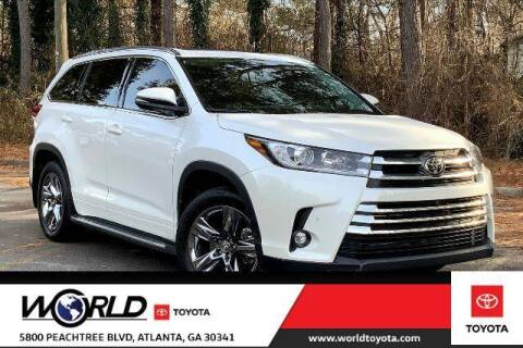 2019 Toyota Highlander for sale at CU Carfinders in Norcross GA