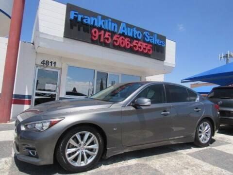2015 Infiniti Q50 for sale at Franklin Auto Sales in El Paso TX