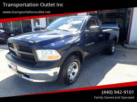 2012 RAM Ram Pickup 1500 for sale at Transportation Outlet Inc in Eastlake OH