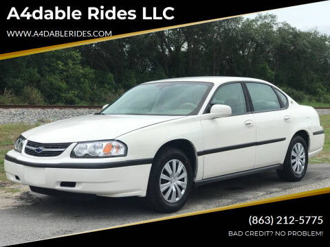 2004 Chevrolet Impala for sale at A4dable Rides LLC in Haines City FL