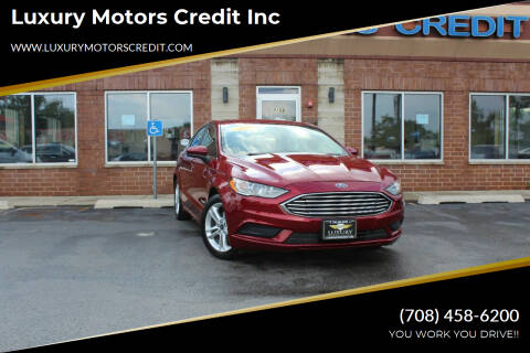 2018 Ford Fusion Hybrid for sale at Luxury Motors Credit Inc in Bridgeview IL