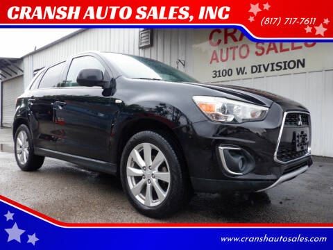 2014 Mitsubishi Outlander Sport for sale at CRANSH AUTO SALES, INC in Arlington TX