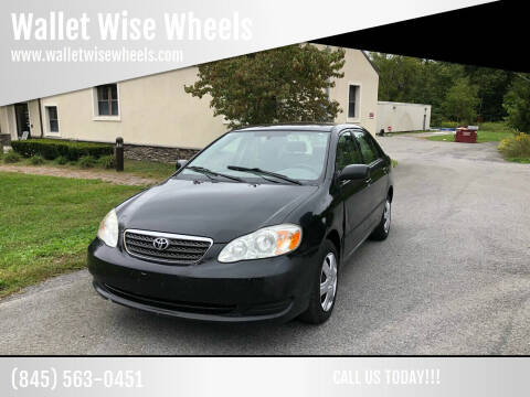 2006 Toyota Corolla for sale at Wallet Wise Wheels in Montgomery NY
