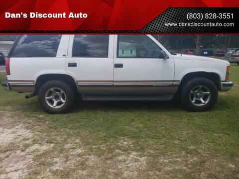 1998 Chevrolet Tahoe for sale at Dan's Discount Auto in Gaston SC