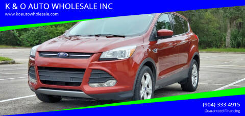 2016 Ford Escape for sale at K & O AUTO WHOLESALE INC in Jacksonville FL