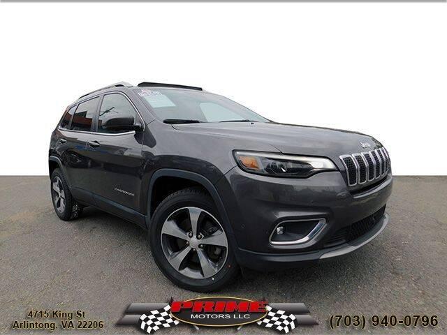 2019 Jeep Cherokee for sale at PRIME MOTORS LLC in Arlington VA