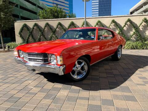 1971 Chevrolet Chevelle for sale at ROGERS MOTORCARS in Houston TX