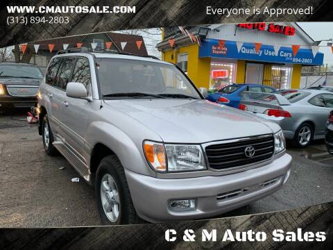 2000 Toyota Land Cruiser for sale at C & M Auto Sales in Detroit MI