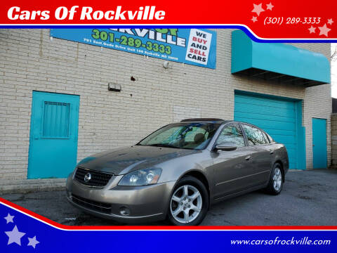 2006 Nissan Altima for sale at Cars Of Rockville in Rockville MD