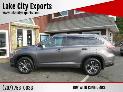 2016 Toyota Highlander for sale at Lake City Exports in Auburn ME