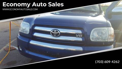 2005 Toyota Tundra for sale at Economy Auto Sales in Dumfries VA