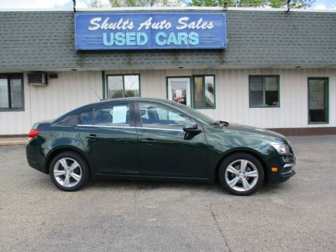 2015 Chevrolet Cruze for sale at SHULTS AUTO SALES INC. in Crystal Lake IL
