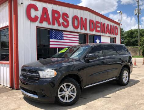2012 Dodge Durango for sale at Cars On Demand 3 in Pasadena TX
