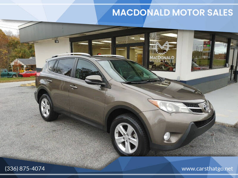 2013 Toyota RAV4 for sale at MacDonald Motor Sales in High Point NC