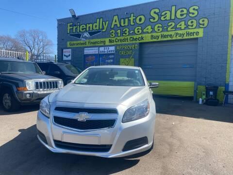 2013 Chevrolet Malibu for sale at Friendly Auto Sales in Detroit MI