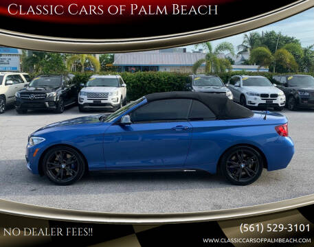 2016 BMW 2 Series for sale at Classic Cars of Palm Beach in Jupiter FL