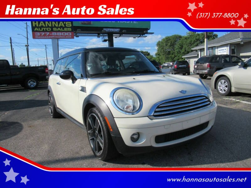 2008 MINI Cooper Clubman for sale at Hanna's Auto Sales in Indianapolis IN