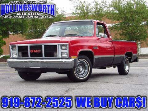 1986 GMC C/K 1500 Series for sale at Hollingsworth Auto Sales in Raleigh NC
