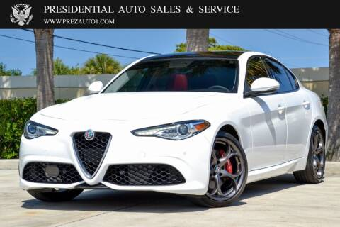 2018 Alfa Romeo Giulia for sale at Presidential Auto  Sales & Service in Delray Beach FL