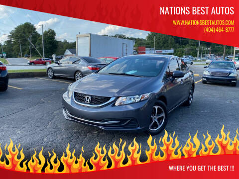 2015 Honda Civic for sale at Nations Best Autos in Decatur GA