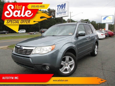 2009 Subaru Forester for sale at AUTOTYM INC in Fredericksburg VA