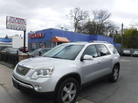 2012 GMC Acadia for sale at City Motors Auto Sale LLC in Redford MI
