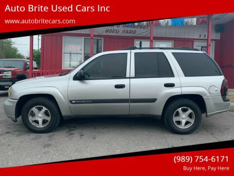 2004 Chevrolet TrailBlazer for sale at Auto Brite Used Cars Inc in Saginaw MI