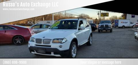 2008 BMW X3 for sale at Russo's Auto Exchange LLC in Enfield CT