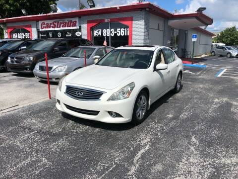 2011 Infiniti G37 Sedan for sale at CARSTRADA in Hollywood FL