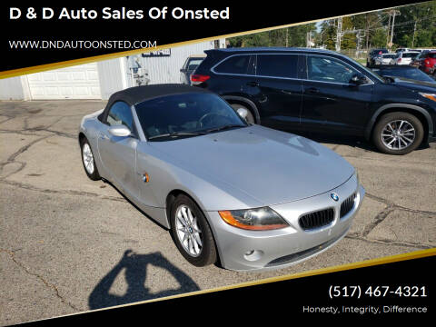 2004 BMW Z4 for sale at D & D Auto Sales Of Onsted in Onsted MI
