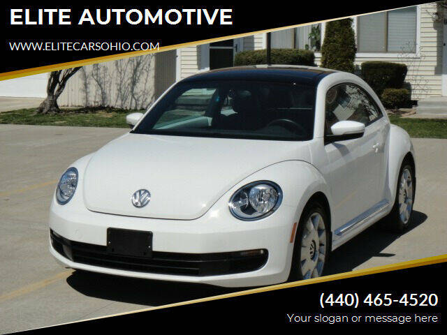 2014 Volkswagen Beetle for sale at ELITE CARS OHIO LLC in Solon OH
