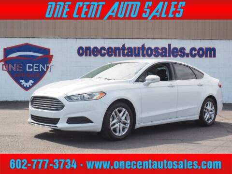 2014 Ford Fusion for sale at One Cent Auto Sales in Glendale AZ