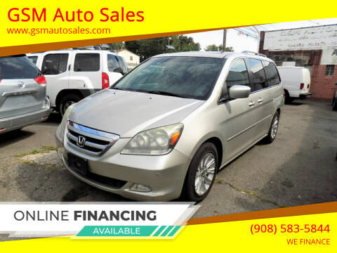 2007 Honda Odyssey for sale at GSM Auto Sales in Linden NJ