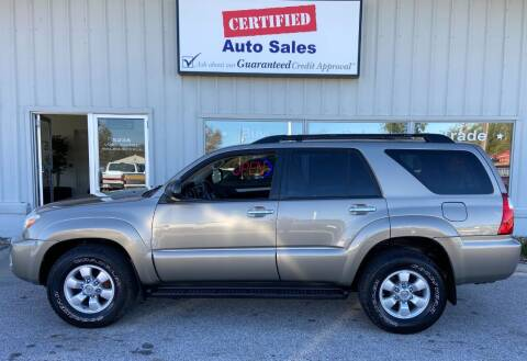 2007 Toyota 4Runner for sale at Certified Auto Sales in Des Moines IA