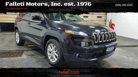 2015 Jeep Cherokee for sale at Falleti Motors, Inc.  est. 1976 in Batavia NY